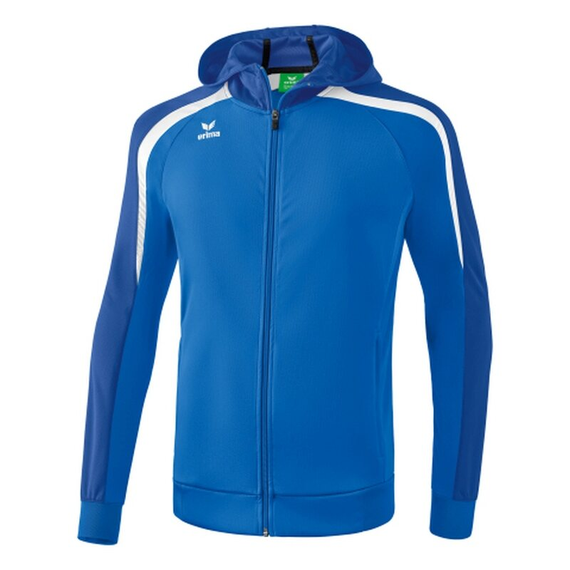 Erima Liga 2.0 Trainingsjacke mit Kapuze Kinder new royal/true blue/weiß 152