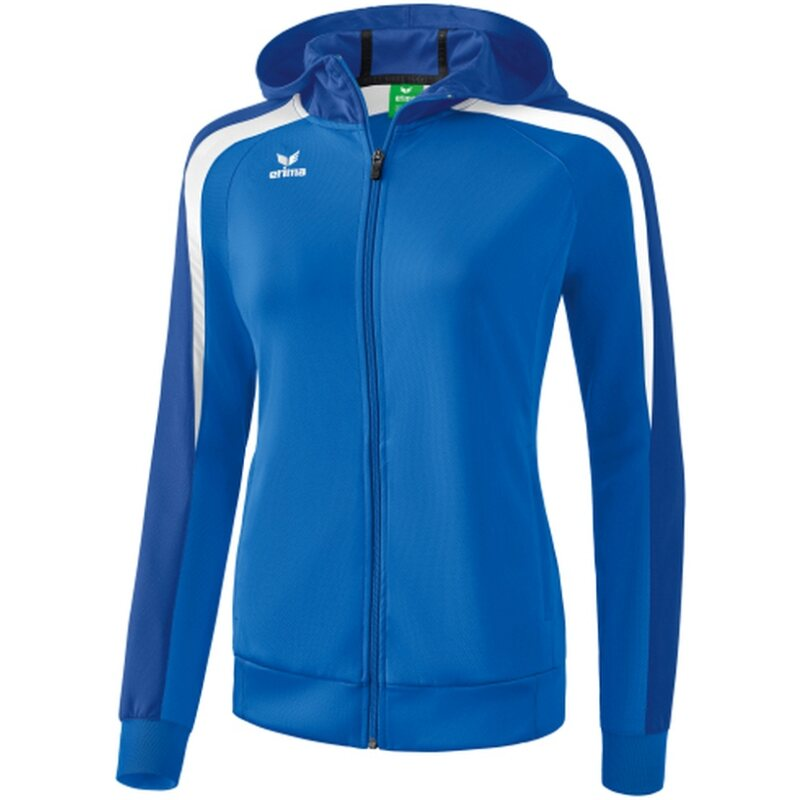 Erima Liga 2.0 Trainingsjacke mit Kapuze Damen new royal/true blue/weiß 34