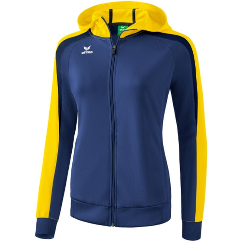 Erima Liga 2.0 Trainingsjacke mit Kapuze Damen new navy/gelb/dark navy 46