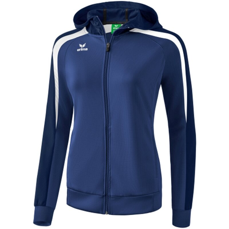 Erima Liga 2.0 Trainingsjacke mit Kapuze Damen new navy/dark navy/weiß 44