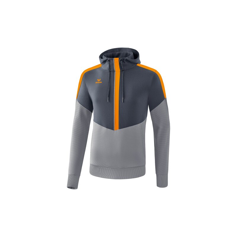 Erima Squad Kapuzensweat Erwachsene slate grey/monument grey/new orange XL
