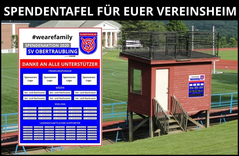 Spendentafel SV Obertraubling