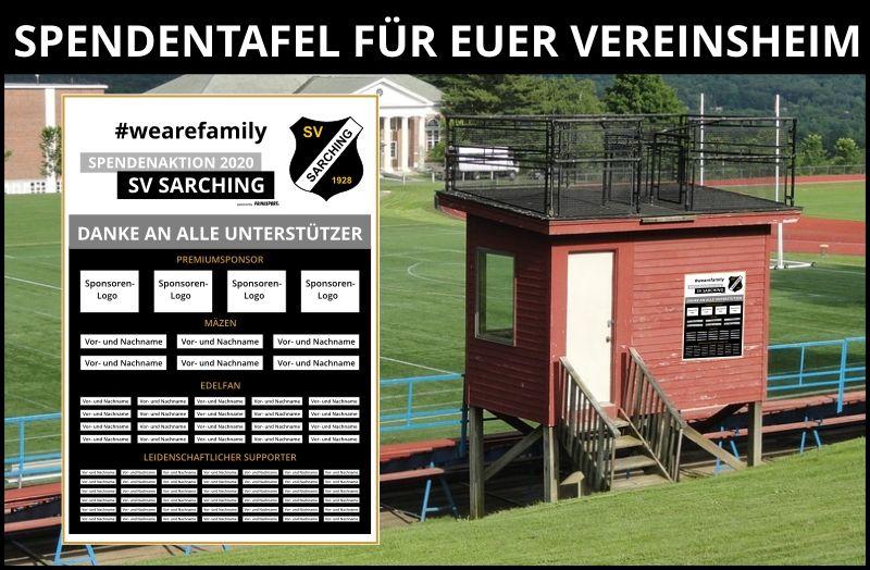 Spendentafel SV Sarching