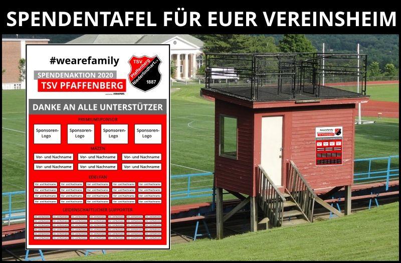 Spendentafel TSV Pfaffenberg
