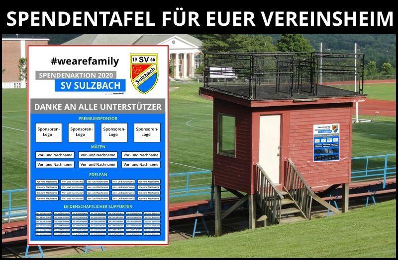 Spendentafel SV Sulzbach
